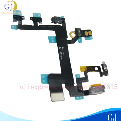 Power Button Switch On/Off Flex Cable for iPhone 5S,Replacement Part,free shipping by air mail(China (Mainland))