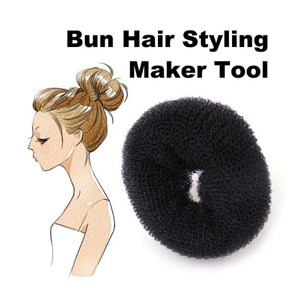 New Arrival Size 6cm Hair Styling Donut Magic Sponge Bun Ring Maker Former Twist Tool Hair Disk(China (Mainland))