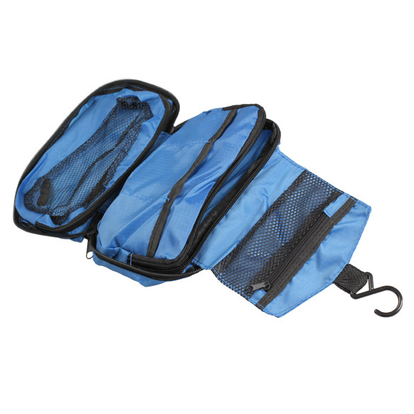 2014 Hanging Multi-function Makeup Cosmetic Bag Organizer Toiletry Pouch Storage Blue NG4S - nogap4us store