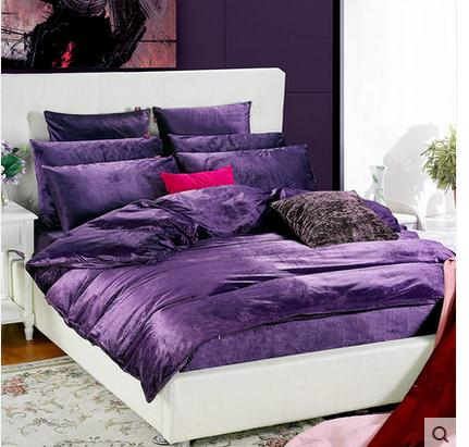 luxury coral duvet cover queen super king purple comforter