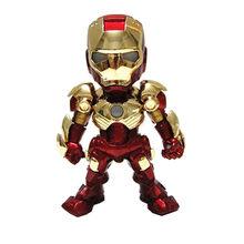 Figura de ação Vingadores marvel Infinito Guerra homem De Ferro Led Superhero Movie Anime figura Coleção Brinquedos modelo elétrico com luz(China)