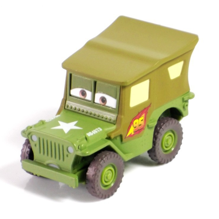 Pixar Cars 2 100% original Team Sarge 1:55 scale die-cast metal alloy model toy free shipping children's gifts(China (Mainland))