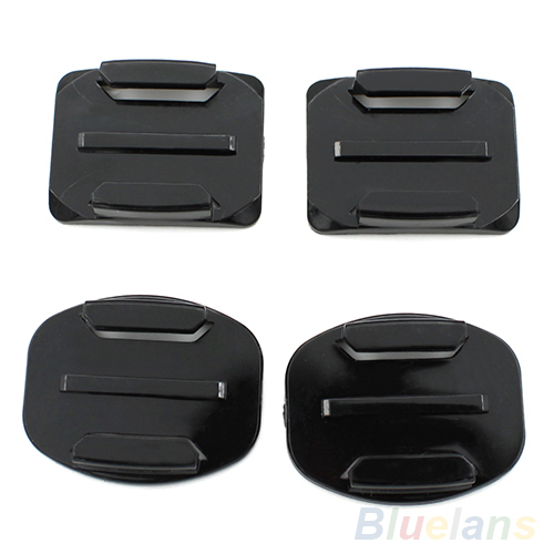 2pcs Flat and 2pcs Curved Adhesive Sticker Mount for GoPro HD Hero2 Hero3 Camera 2JE9