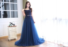 Elegant Scoop Neck Cap Sleeve Floor Length lace up Back Design A-line Appliqued and Beaded Homecoming Dress(China (Mainland))