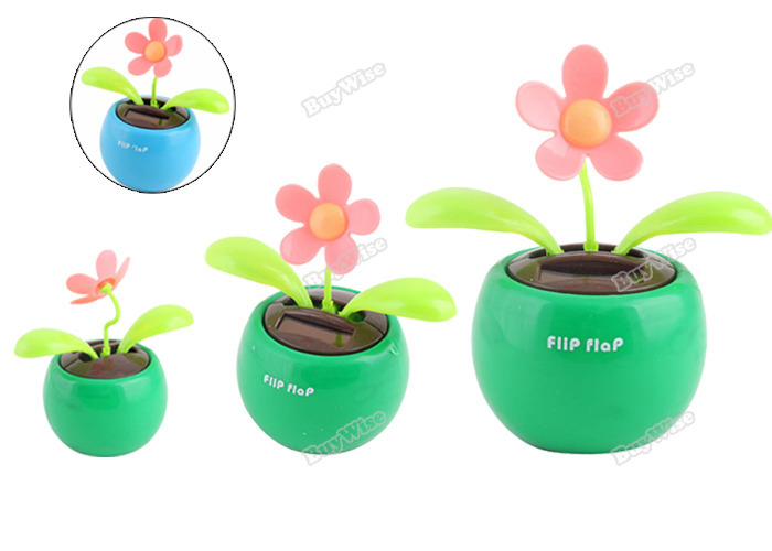tomdeal Solar Powered Cool Car Dancing Toys Flip Flap Flower [Hot](China (Mainland))