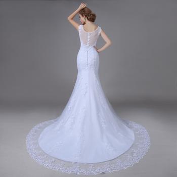 Настоящее фото поезд сексуальная русалка свадебные платья платья мантия де свадебная кружева белое свадебное платье 2015 vestido noiva винтаж