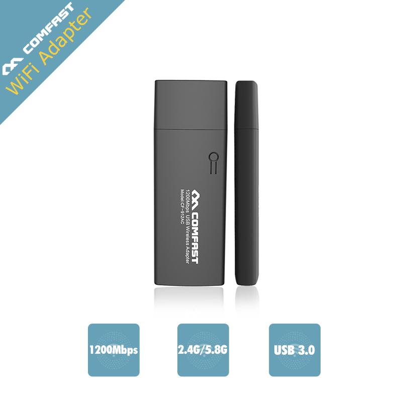 1200Mbps COMFAST USB Wi fi Dual Band 802.11ac/a/b/g/n Wireless N 11AC 2.4G/5.8G WiFi adaptador wifi usb ac Network PC Receiver(China (Mainland))