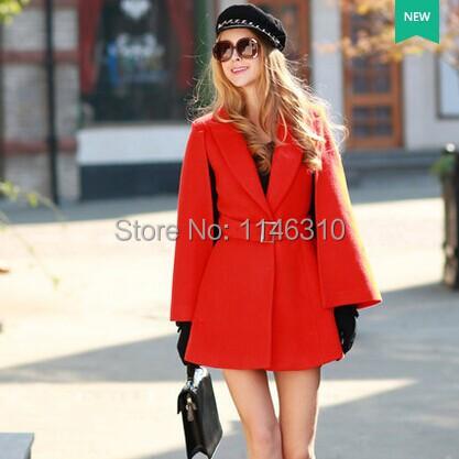 Wool tweed coat girls long pink doll winter 2014 new Korean cloak temperament woollen overcoatОдежда и ак�е��уары<br><br><br>Aliexpress