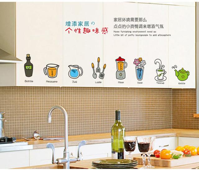 Corea fshionable pensili decorazione della casa - Adesivi per piastrelle cucina ...