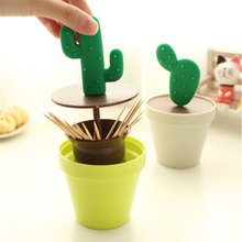 Toothpick Holders plastic automatic toothpick fashion cactus shape toothpick holders table decoration kitchen tool free shipping