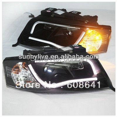LED Head Light For Audi A6 LED head lamp 1997 - 2001 year V2 Type(China (Mainland))