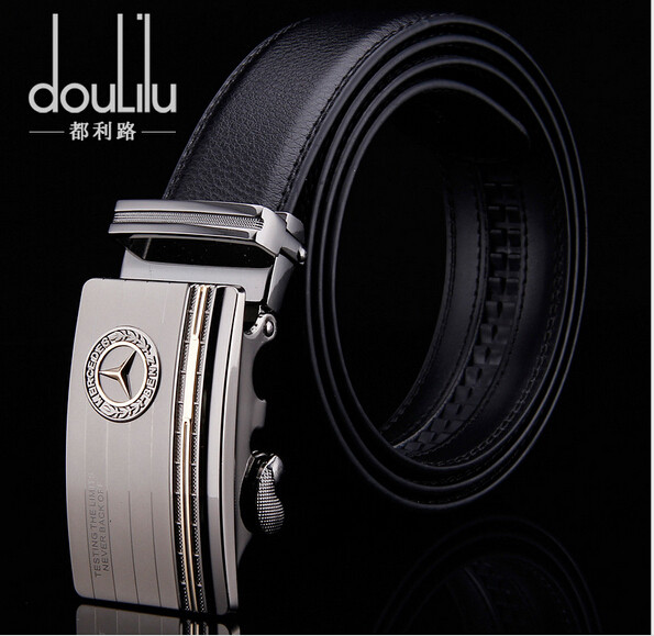 2016 New Fashion Men's Genuine Leather Belts , Luxury Automatic Buckle Business Belts For Men(China (Mainland))