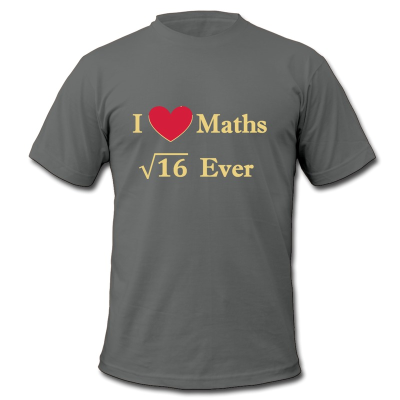 Men's Teeshirt ONeck i love maths 4 ever Personalize T Shirts for Boy Cheap