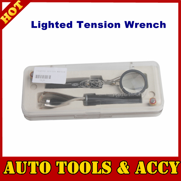 2015 Top-rated Lighted Tension Wrench is used for for reading wafers, examining keyways for stuck wafers, removing broken keys(China (Mainland))