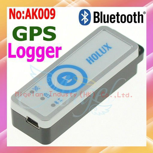 Wholesale HOLUX M-1200E Bluetooth GPS Receiver with GPS Data Logger Travel Recorder Free shipping #AK009(China (Mainland))