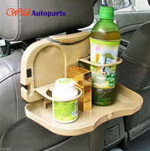 Universal Auto Chair Foldable Dinner Table Meal Drunk Cup Bottle Tray Holder Storage for Track Vehicle Car Accessories(China (Mainland))
