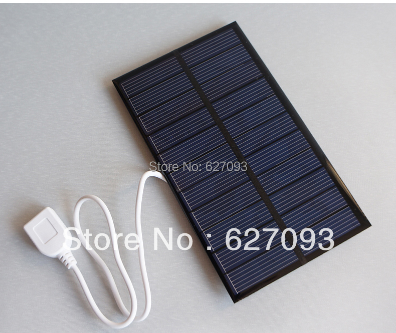 Universal 6V 270mA 1.6W mini solar panel panels charger with USB2.0 power For cell phone ipod PC Notebook mp3 mp4 free shipping(China (Mainland))