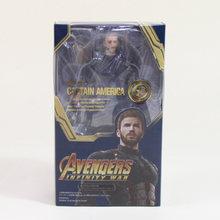 18 cm Thanos Maravilha Brinquedos SHFiguarts SHF PVC Action Figure the Avengers 3 INFINITO GUERRA Figura Collectible Modelo Toy Dolls moveable(China)