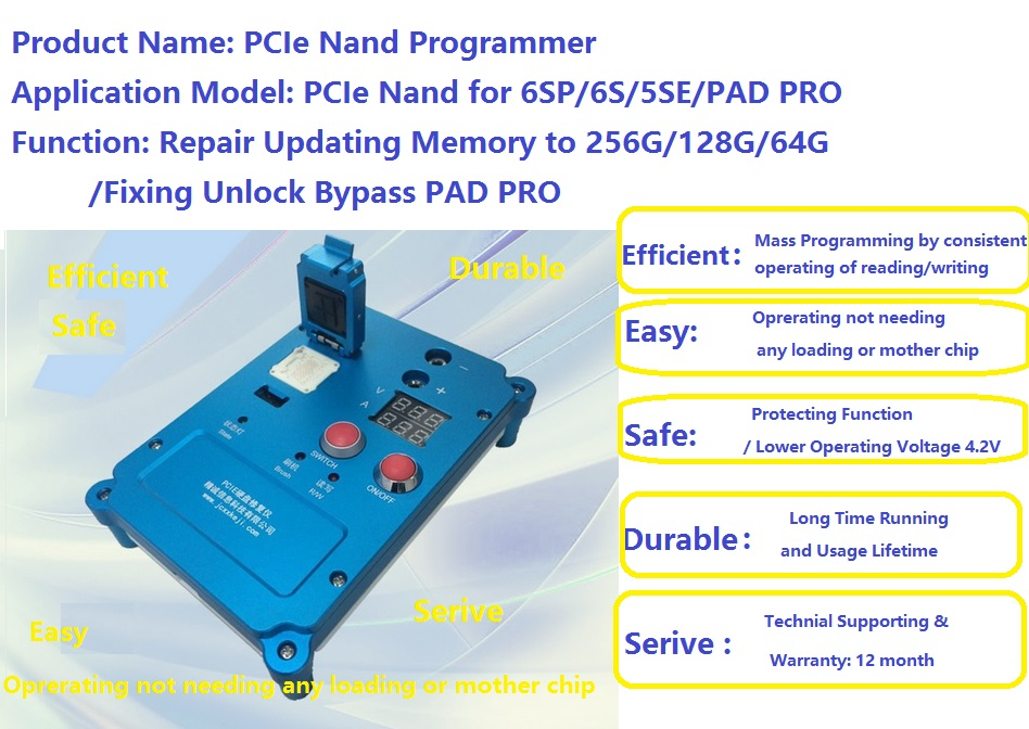 Free DHL Repair iphone 6s 6sp 5SE ipad pro nand programmer,update memory NVMe,fixing unlock bypass ipad pro hdd PCIe nand sn(China (Mainland))