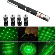 50Pcs/Lot DHL Free Shipping Green 5-in-1 Laser Pointer pen 5mW 532nm Powerful Beam Lazer+5 Patterns Head(China (Mainland))