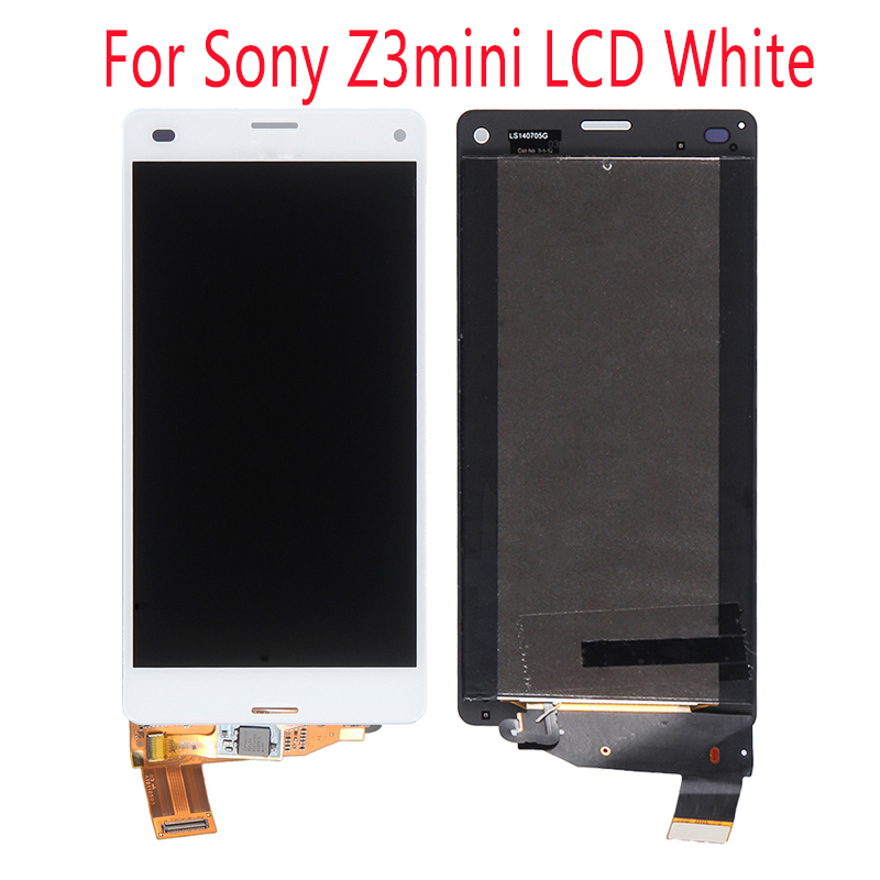 FOR sony xperia z3 mini lcd 100% Sony Xperia Z3 LCD For Sony Xperia Z3 Mini Compact аксессуар защитное стекло sony xperia z3 z3 dual onext 40946