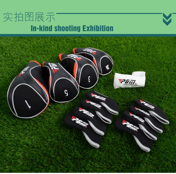 13-Pcs Golf Club Head Covers Headcovers Protect Case Colorful. Full Complete Golf Clubs Set Headcovers Rod Covers Head Covers