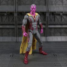 Железный человек Капитан Америка черный пантера, зимний солдат человек-муравей Сокол Алая ведьма видения Hawkeye фигурку модель игрушки N033(China)
