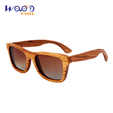 wooden bamboo sunglasses zebra wood sunglasses free Shipping