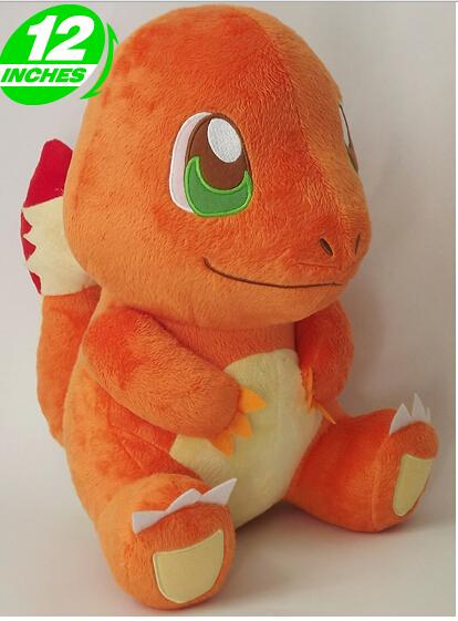 Free Shipping 32cm Pokemon Charmander Plush Toys Dolls Japanese Anime Dragon Stuffed Toys Christmas & Birthdays Gifts(China (Mainland))