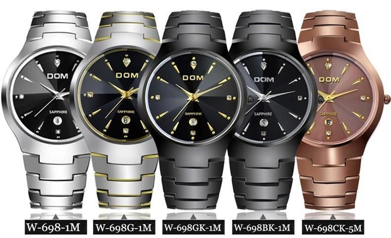 Watches men luxury brand Top Watch DOM quartz men wristwatches dive 200m sapphire Fashion Casual Sport