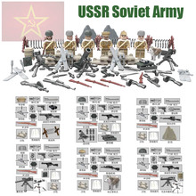 WW2 Soviet Russian National Army The Battle Moscow Custom Anti Fascist Guard Husky Military Minifigure Compatible with Lego D164(China (Mainland))