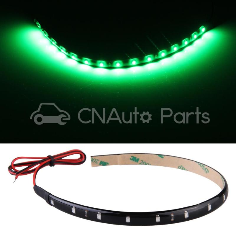 4 30cm 15 Neon Flexible Waterproof Green LED Strip Bar Light Car Motor Truck(China (Mainland))