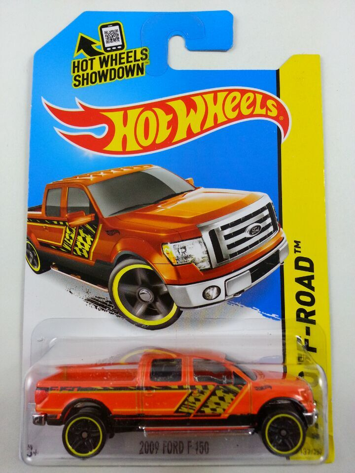 Free Shipping car model, 1:64 car toys, children's toys, alloy car hot wheels orange pickup truck 2009 FORD F150(China (Mainland))