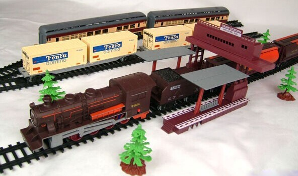 Free delivery! 1/87 mannequin railroading 9.four Meters electrical prepare Monitor electrical toy trains for youths Railroad truck kids reward