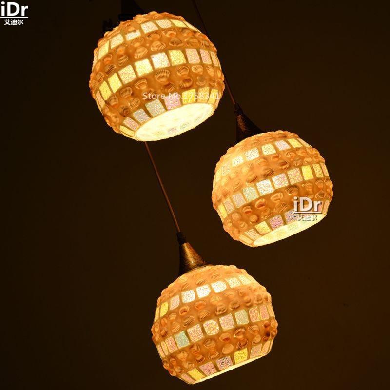 Купить Новый лампа Джейн Европейский Средиземноморский стиль обеденный стол природного оболочки лампа Творческий Свет Подвесные Светильники wwy-0425