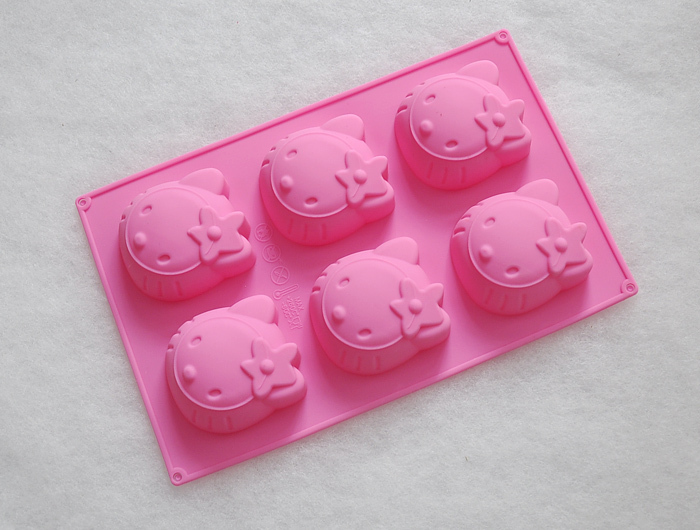 Hello Kitty Cake Molds Tools Soap Chocolate Mould Bakeware Silicone KT Cake Tool Sugar mould baking tools(China (Mainland))