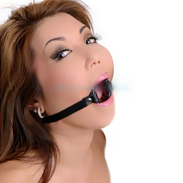 Girl throat ball gags cum