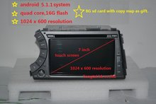 """ready stock 7"""" 2din Android 5.1.1  car dvd gps for ssangyong Kyron Actyon 3G,Wifi,BT,support dvr,OBD2,quad core,1024x600,russian(China (Mainland))"""