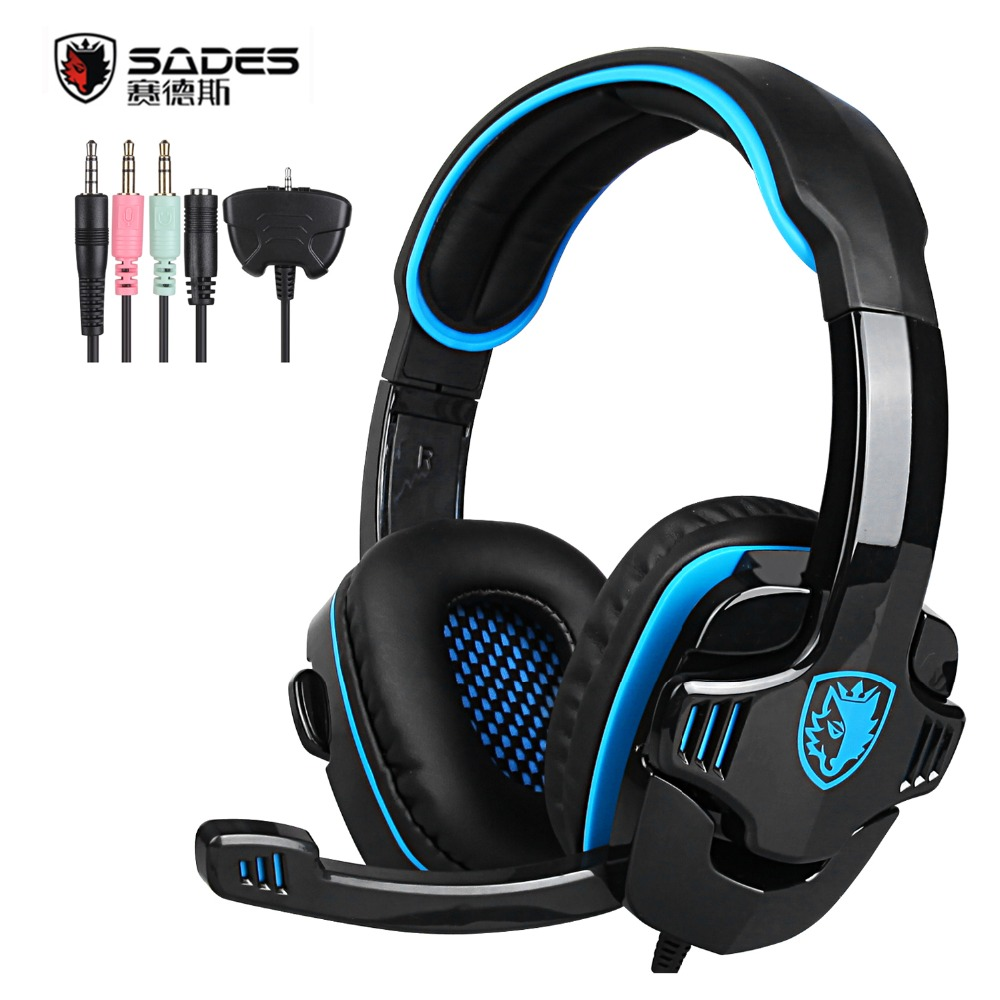 Original SADES SA-708GT Gaming Headset Headphones Stereo Computer Gamer Earphones with Microphone for Xbox 360 PS4 PC Games(China (Mainland))