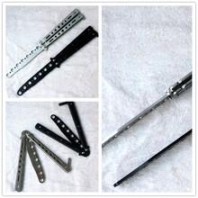 Горячая черный / серебристый металл практика бабочка подготовка инструкторов нож тупая инструмент Butterfly-C27 вес 170 г лучшее качество