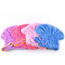 5pcs Cute Super Absorbent Towel Lightweight Microfiber Fast Quick Dry Hair Towel For Female Magic Cap Towel Bathroom Products(China (Mainland))