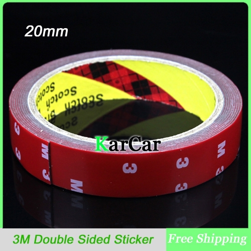 3M Tape 20mm Double Sided Sticker Acrylic Foam Adhesive, Car Interior Tape Free Shipping(China (Mainland))