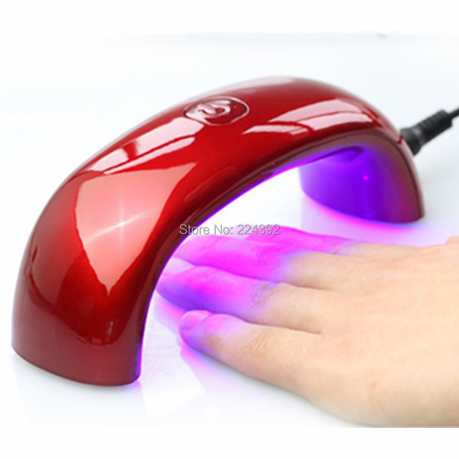 2014 Portable 6W 100-240V LED Light Bridge shaped Mini Curing Nail Dryer Art Lamp Care Machine UV Gel EU Plug - YOOMBUY store