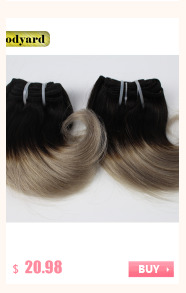 Goodyard Hair Products Ombre Brazilian Body Wave 8pcs/lot 100g Wholesale Short Ombre Hair Bundles Two Tone Ombre Hair