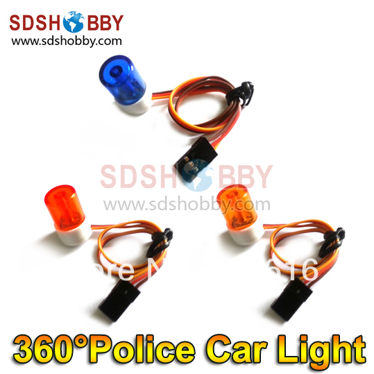 High Imitation RC 360 Degree Rotation Small Night Flash LED Light/ Police Car Lights for 1/8 1/10 1:8 1:10 RC Model Cars(China (Mainland))