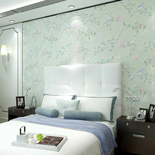 Modern wallpapers new home decor flower wall paper hot for Modern home decor sale
