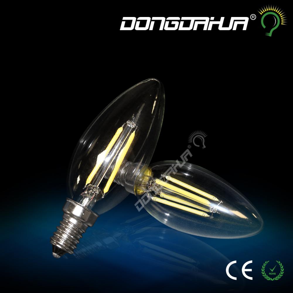 Tungsten light C35J candle light bulb retro energy saving lamp E14 2W 4W high brightness home 2017 new listing Tungsten light(China (Mainland))