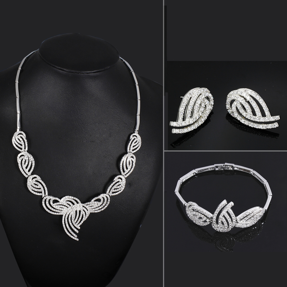 Unique Design AAA Cubic Zirconia Wedding jewelry Sets Cadmium Free Vintage Jewelry Allergy Free Wedding Anniversary Gifts<br><br>Aliexpress