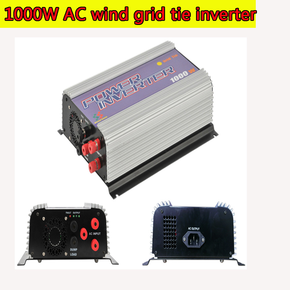 1000W MPPT Pure Sine Wave On Grid Tie Inverter for 3 Phase AC 22-60V/45-90V Wind turbine Wind Grid Tie Inverter with Dump Load(China (Mainland))