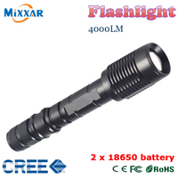 ZK50 LED Flashlight V5 CREE XM L T6 4000Lumens 5 Modes Zoomable Torch tractical flshlight can